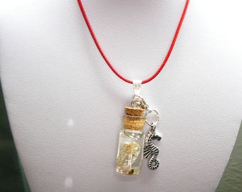 Glass Bottle Charm Necklace