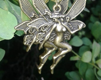 Classic Bronze Fairy Earrings with Swarovski Crystals