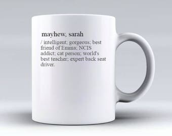 Personalised Mug - Custom Mug - Dictionary Mug Bespoke Mug - Custom Name Mug - Customised Mug - Birthday Gift Ceramic Mug - Coffee Mug 350gs