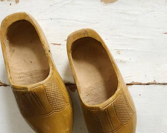 Vintage wooden clogs,