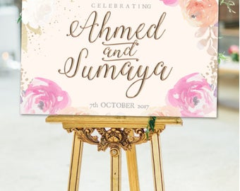 PRINTABLE WEDDING SIGN/Poster/Floral