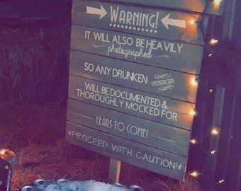 Open Bar Warning for Weddings