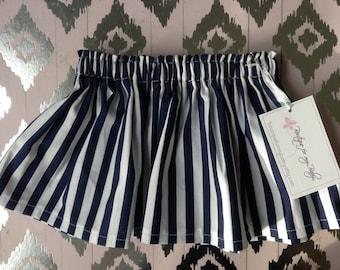 Baby Skirt / Girl Skirt / Toddler Skirt / Girl clothes / Baby Girl skirt / Baby Girl Outfit /  Girl Outfit / Navy & white skirt