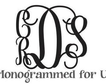 Family Four Letter Wooden Monogram