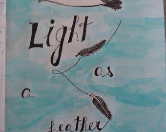 Light as a feather - original watercolour