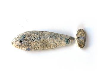 sculpture ceramic raku, fish