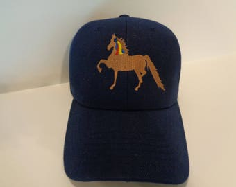Embroidered Hat with Saddlebred