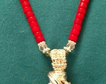 Silver Wrapped Coral (Lg)