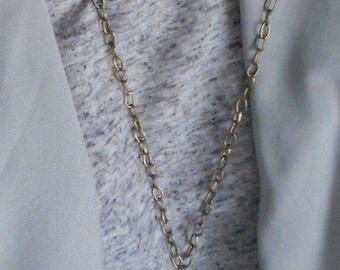 Steampunk Australian made charm necklace gears keys cogs brass long chain pendants industrial silver beads unique handmade ladies jewellery
