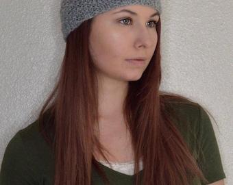 Knit Headband, Womens Headband, Knit Head Wrap, Hair Wrap, Knit Ear Warmer, Winter Head Band, Winter Headpiece, Grey - Made to Order