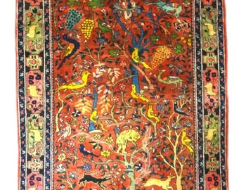 Antique Persian Tree of Life Rug – ca 1940 - Otherworldly Beautiful