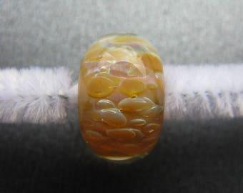BORO Lampwork Focal Bead, Lampwork Focal Bead, Borosilicate Focal, Violet, Pink, Yellow, Opals, Handmade Lampwork, Artisan OOAK - HGD1204