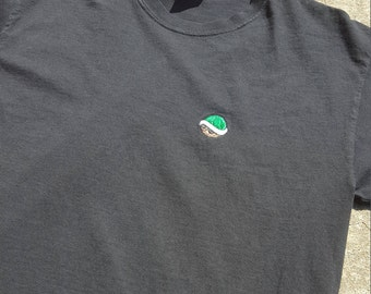 """Mario Kart Inspired """"Green Shell"""" Embroidered T-Shirt"""