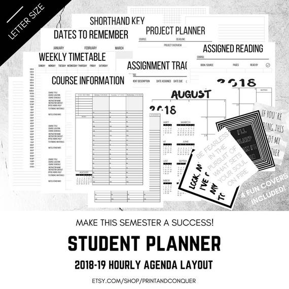 items similar to student planner 2018