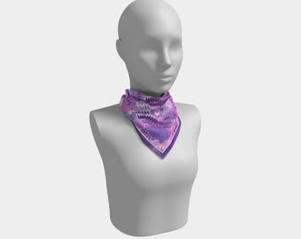 Dyed Purple Scarf