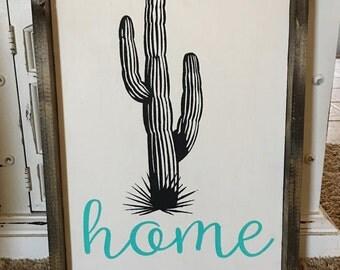 Saguaro Cactus Home Sign