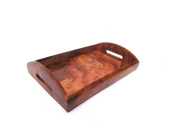 Wooden Serving Tray made of Thuya Wood Burl Table Serving