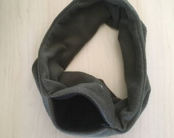 Sugar Glider Bonding Scarf Single Loop - Sugar Glider Bonding Pouch - Rat Bonding Pouch - Bonding Pouch - Green Fleece