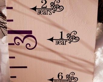 Filigree Height Marking Arrows for Growth Charts | Height Markers - Growth Chart Decals - Height Decals - Arrows - Measuring Arrows - Canada