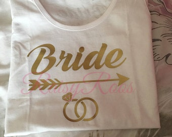 personalised bride tribe vests, bride tribe vests, bride vests, bridesmaid vests,hen party vests, personalised bridal clothing, bride squad