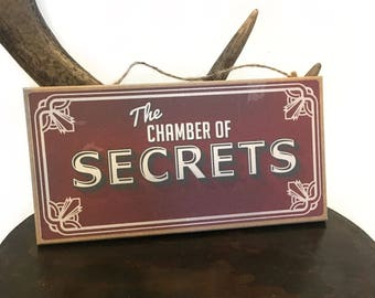 Harry Potter inspired The Chamber of Secrets hanging sign