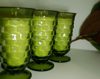 Vintage Green Glass Soy Candle