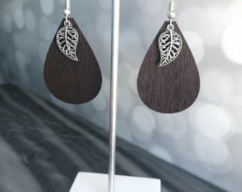 Faux Leather Earrings- Leather Earrings- Leather Jewelry- Earrings- Gift