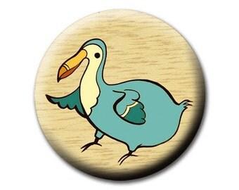 DODO BIRD mirror by boygirlparty, cute pocket mirror - dodo extinct bird animal illustration natural history - unusual travel accessory