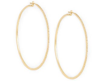 diamond dusted hoops | LARGE