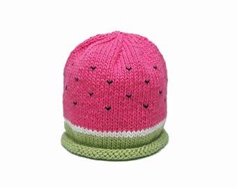 Cotton Watermelon Hat - Baby