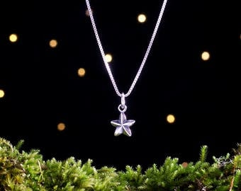 Sterling Silver Tiny Star - Double Sided - (Charm, Necklace, or Earrings)