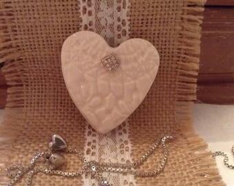 Ceramic Heart Brooch, Pin,Badge, Jewellery