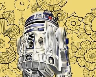 R2D2 Star Wars Art Print Star Wars poster print 8 X 10 Customizable Movie Poster Art Print Home Decor Wall Art Print Wall Decor