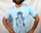 Vintage 1980s 80s Blue Tshirt Tee Shirt - Little Nell Orphan Girl