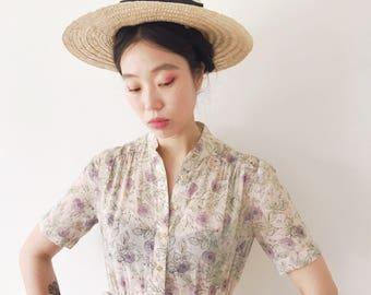 Midsommar, cotton vintage dress, Japan, small