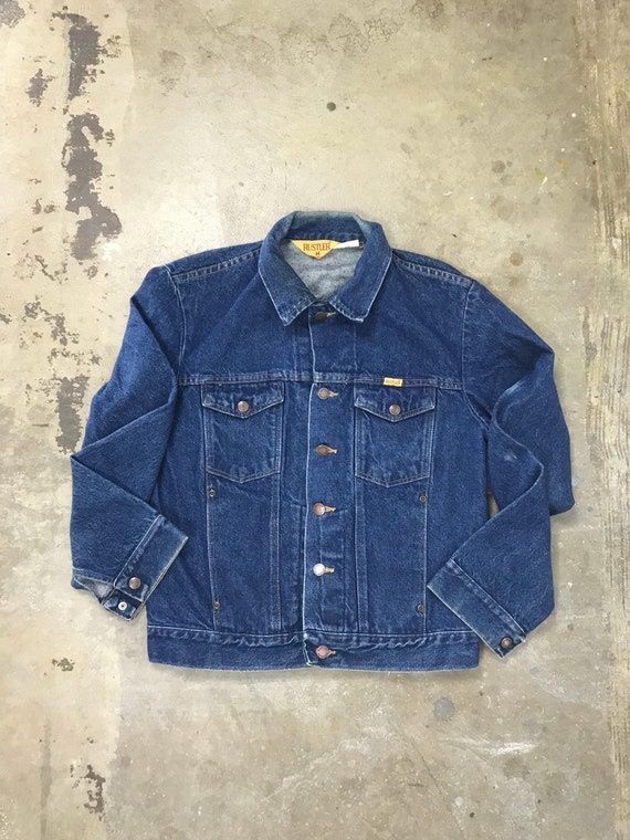 80s Rustler Dark Wash Denim Jacket