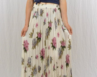 Vintage Floral Midi Skirt, Size XS-Small, Hippie Skirt, Fairy, Grunge, 90's Clothing, Free People, Free Spirit, Boho, Festival Clothing