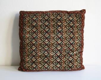 Velvet Block Print Pillow