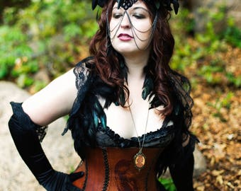 Reserved for Candy~ Raven and Roses Gothic Headdress