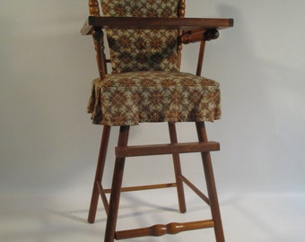 Doll High Chair Vintage Mid Century Wooden Classic Traditional Early American Style Design Nursery Playroom & Vintage wood high chair   Etsy islam-shia.org