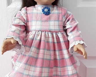 """Pink and Blue Pajamas Fit AG or 18"""" Doll"""