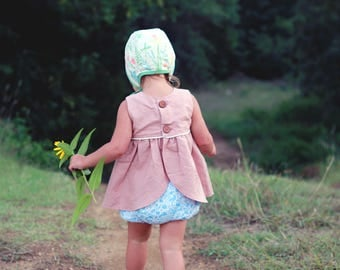 Blue garden bloomers; Girls Bloomers; baby bloomers; infant bottoms