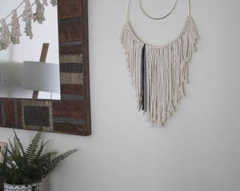 Macrame Wall Hanging/Weaving/Tapestry/Wall Hanging/Macrame Decor/Wall Art/Wall Decor/Ring