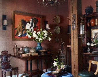 Antique Ottoman stool round bench seat Iron frame leg base orientalist small furniture LIVING room exotic oasis decor Moorish metal arts