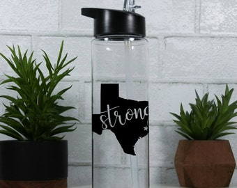 Texas Strong Water Bottle - 50% of proceeds go to Houston Area Womens Center   Hurricane Harvey Relief   Houston Strong   Houston Charity