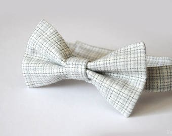 Boys grey bow tie Baby boy bow tie Toddler bow tie infant bow tie gray white Mens bow tie Newborn bow tie Wedding bowtie Ring bearer bow tie