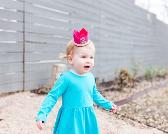 Second Birthday Crown || Girl Birthday Crown Headband || Girl 2nd Birthday Crown || Girl Birthday Crown