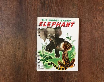 Saggy Baggy Elephant Journal - Baby Shower Guest Book  - Saggy Baggy Elephant Notebook -  Baby Book Shower - Little Golden Book Baby Shower