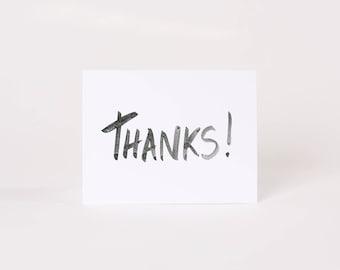 THANKS! Card //  Minimalist Card