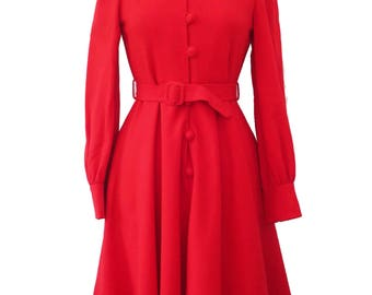 Red wool dresses uk cheap